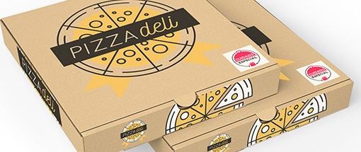 Caixa Pizza Selo Cuidado Especial