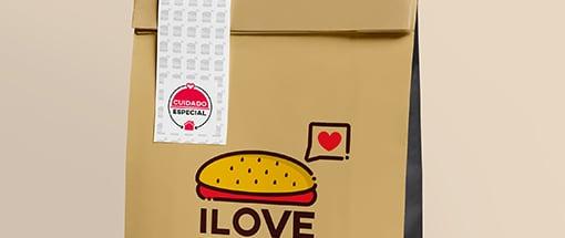 Embalagem Hamburger Selo Cuidado Especial